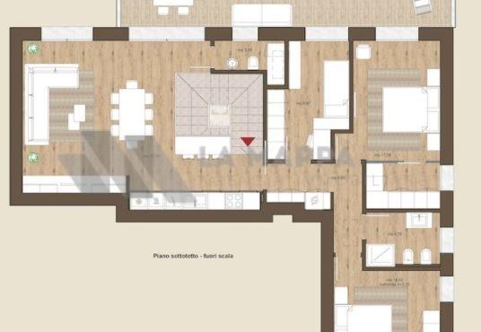 Meraviglioso attico a Trevignano in vendita con grande zona giorno